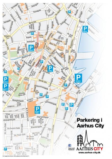 Parkeringskort Aarhus City, november 2015
