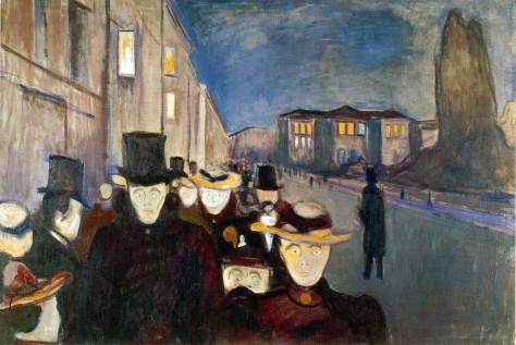 Edvard MUNCH_AFTEN PÅ KARL JOHAN_1892