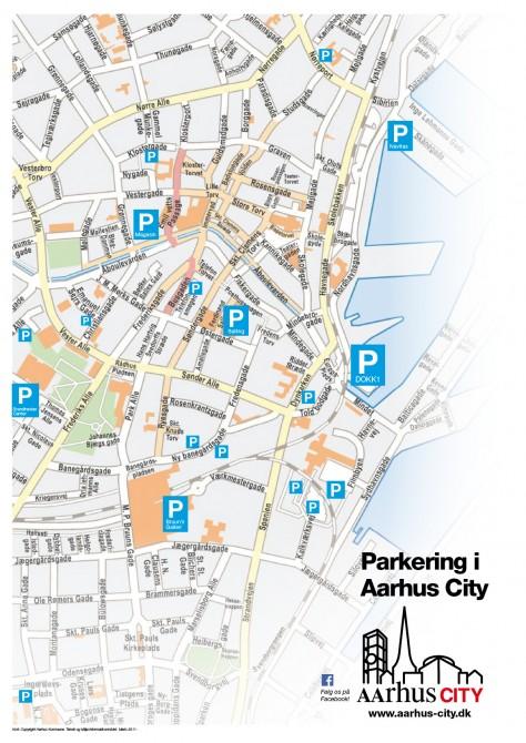 Parkeringskort, Aarhus City, juni 2015, høj opløsning